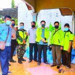 Foto Bersama Ketika Menerima Bantuan Kapolda Sumut untuk diberikan kepada Buruh SBSI 92