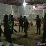 Foto : Halaman Garasi Ketua PAC-PP dan PUK SPSI Dirusak orang tidak dikenal (OTK), Sabtu malam (10/04/2021) sekira pukul 22.15 WIB