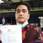 Foto : Kuasa Hukum Korban, Oloan Butar-butar, Selasa (22/06/2021) di Mapolrestabes Medan.