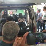 Foto : Mayat Juned Simanjuntak (53) berada didalam ambulan di Gedung Pengadilan Negeri (PN) Medan, Sumatera Utara (Sumut).