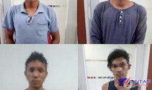 Foto : Wajah pelaku yang mencoba melakukan pembunuhan terhadap jurnalis Binjai dan pelaku diamankan pihak Kepolisian Polres Binjai, Jumat (25/06/2021)